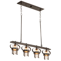 Kalco Bexley 4 Light Island Light in Vintage Iron 2895VI