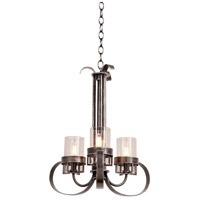 Kalco 2897VI Bexley 3 Light 18 inch Vintage Iron Chandelier Ceiling Light