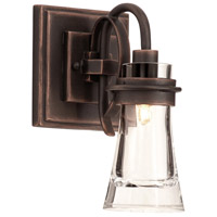 Kalco Dover 1 Light Bath Light in Antique Copper 2911AC