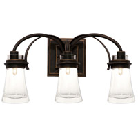 Kalco Dover 3 Light Bath Light in Antique Copper 2913AC