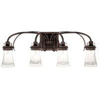 Kalco 2914AC Dover 4 Light 30 inch Antique Copper Vanity Light Wall Light