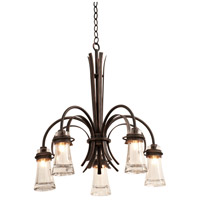 Kalco Lighting Dover 5 Light Chandelier in Antique Copper 2915AC