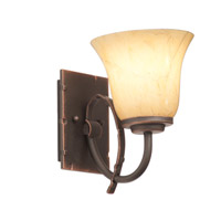 Penrith 1 Light 5 inch Antique Copper Bath Vanity Wall Light in Neutral Swirl (1239)