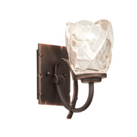 Penrith 1 Light 5 inch Antique Copper Bath Vanity Wall Light in Clear Spiral (G1210)