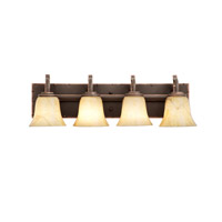 Penrith 4 Light 26 inch Antique Copper Bath Vanity Wall Light in Neutral Swirl (1239)