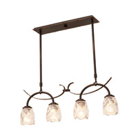 Kalco Lighting Penrith 4 Light Island Light in Antique Copper 2925AC/G1210