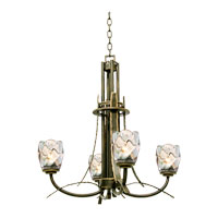 Kalco Penrith 4 Light Chandelier in Antique Copper 2927AC
