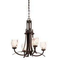 Kalco Lighting Penrith 4 Light Chandelier in Antique Copper 2927AC/G1210