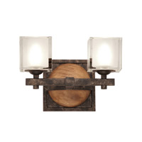 Hampton 2 Light 12 inch Florence Gold Bath Light Wall Light