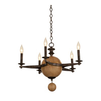 Kalco Hampton 5 Light Chandelier in Florence Gold 2937FG