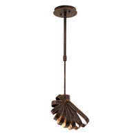 Kalco Lighting Brandt 1 Light Mini Pendant in Antique Copper 2950AC
