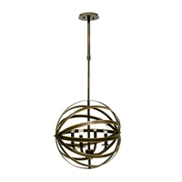 Kalco Brandt 4 Light Chandelier in Antique Copper 2951AC
