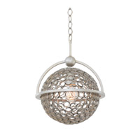 Kalco Marrero 2 Light Pendant in Aged Silver 2970SV