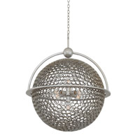 Kalco Marrero 5 Light Pendant in Aged Silver 2972SV