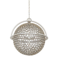 Kalco Marrero 5 Light Pendant in Aged Silver 2973SV