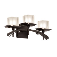 Kalco Lighting Nijo 3 Light Bath Light in Tawny Port 2983TP