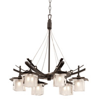 Kalco Nijo 6 Light Chandelier in Tawny Port 2989TP