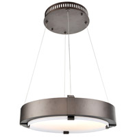 Halo 19 inch Bronze Pendant Ceiling Light