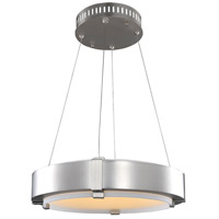 Halo 19 inch Satin Nickel Pendant Ceiling Light