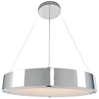 Kalco 300052CH Halo 35 inch Chrome Pendant Ceiling Light