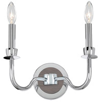 Kalco 300422CH Sharlow 2 Light 11 inch Chrome Wall Sconce Wall Light