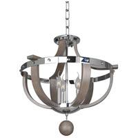 Kalco 300440CH Sharlow 3 Light 20 inch Chrome Semi Flush Mount Ceiling Light