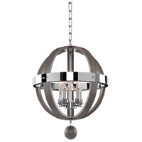 Kalco 300480CH Sharlow 5 Light 19 inch Chrome Pendant Ceiling Light
