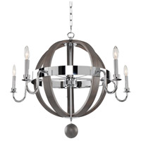 Kalco 300481CH Sharlow 5 Light 32 inch Chrome Chandelier Ceiling Light