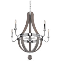 Kalco 300482CH Sharlow 5 Light 31 inch Chrome Chandelier Ceiling Light
