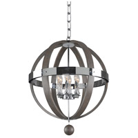 Kalco 300483CH Sharlow 6 Light 25 inch Chrome Pendant Ceiling Light