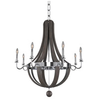 Kalco 300484CH Sharlow 8 Light 36 inch Chrome Chandelier Ceiling Light
