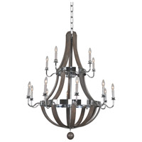Kalco 300485CH Sharlow 15 Light 40 inch Chrome Chandelier Ceiling Light