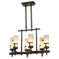 Kalco Emsworth 6 Light Chandelier in Tawny Port 3017TP