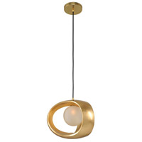 Kalco 302350GL Calistoga 1 Light 12 inch Gold Leaf Mini Pendant Ceiling Light