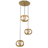 Kalco 302351GL Calistoga 3 Light 25 inch Gold Leaf Pendant Ceiling Light