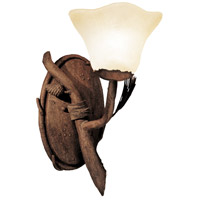 Kalco 3032PD/1265 Ponderosa 1 Light 7 inch Ponderosa Wall Sconce Wall Light in Large Piastra (1265)