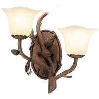 Ponderosa 2 Light 16 inch Ponderosa Wall Bracket Wall Light in Small Piastra (1255)