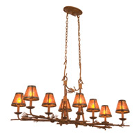 Ponderosa 8 Light 47 inch Sycamore Chandelier Ceiling Light in Without Glass, Mica (S205)