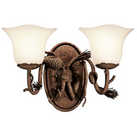 Ponderosa 2 Light 17 inch Ponderosa Bath Light Wall Light in Small Piastra (1255)