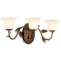 Kalco 3043PD/1255 Ponderosa 3 Light 26 inch Ponderosa Vanity Light Wall Light in Small Piastra (1255)