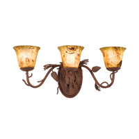 Kalco Lighting Ponderosa 3 Light Bath Light in Ponderosa 3043PD/PS11