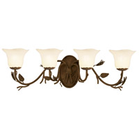 Kalco 3044PD/1255 Ponderosa 4 Light 37 inch Ponderosa Vanity Light Wall Light in Small Piastra (1255)