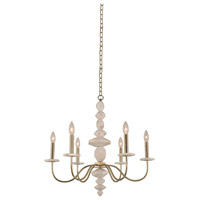 Kalco 304850CG Carrara 6 Light 26 inch Champagne Gold Chandelier Ceiling Light