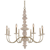 Carrara 8 Light 34 inch Champagne Gold Chandelier Ceiling Light