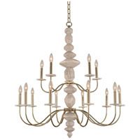 Kalco 304852CG Carrara 15 Light 40 inch Champagne Gold Chandelier Ceiling Light