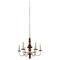 Lassen 6 Light 26 inch Champagne Gold Chandelier Ceiling Light