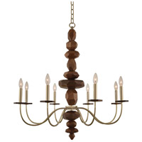 Lassen 8 Light 34 inch Champagne Gold Chandelier Ceiling Light