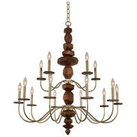 Lassen 15 Light 38 inch Champagne Gold Chandelier Ceiling Light