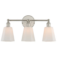 Kalco 305033PN Greenwich 3 Light 20 inch Polished Nickel Vanity Light Wall Light