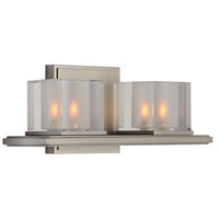 Kalco 306432SN Naples LED 13 inch Satin Nickel Bath Vanity Wall Light